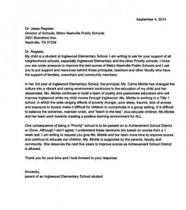 Inglewood Parent Letter -- ASD