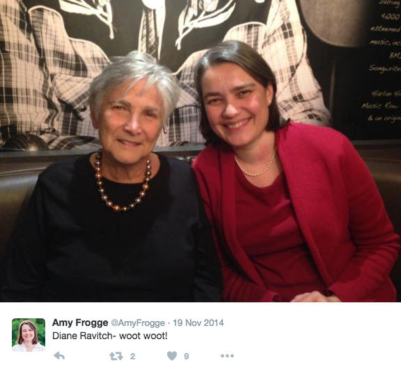 Diane Ravitch and Amy Frogge